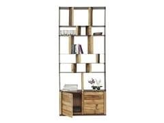 Libreria a giorno in acciaio e legno STORM | Libreria in acciaio e legno -