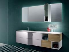 Mobile lavabo sospeso con specchio STR8 101 - Str8