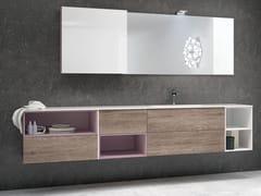 Mobile lavabo sospeso con cassetti STR8 120 - Str8