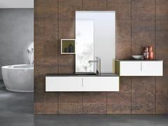 Mobile lavabo sospeso con specchio STR8 126 - Str8