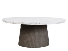 Tavolo da giardino rotondo in JanusFiber® con top in pietraSTRADA | Tavolo in JanusFiber® - JANUS ET CIE