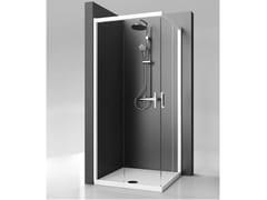 Ideal Standard, STRADA - mod. A Box doccia angolare in vetro temperato con porta scorrevole