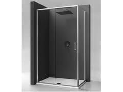 Box doccia in vetro temperato con porta scorrevole STRADA - mod. PSC - Strada