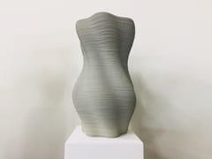 Concreative, STRAND Vaso da giardino alto in calcestruzzo stampato 3d