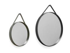 Specchio rotondo con cornice da pareteSTRAP MIRROR - HAY