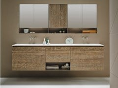 Mobile lavabo componibile sospeso in legno STRATO | Mobile lavabo componibile - Strato