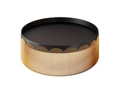 Tavolino basso da caffè rotondo in metalloSTRINGS | Tavolino - SCARLET SPLENDOUR DESIGNS PVT