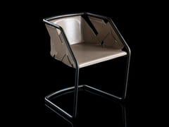 Sedia con struttura in metallo e rivestimento in pelleSTRIP | Sedia - H-07