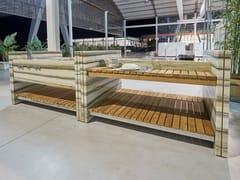 Modulo cucina freestanding in marmoSTRIPES - FRANCHI UMBERTO MARMI