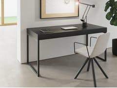Scrivania rettangolare in legno impiallacciatoSUA HOME OFFICE | Scrivania rettangolare - BK CONTRACT EQUIPMENT