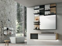 Mobile lavabo sospeso con specchio SUITE 01 - Suite