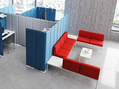 Divano componibile in tessuto SUITE - STEELBOX BY METALWAY