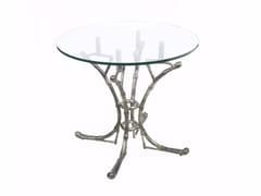 Tavolo da pranzo rotondo in alluminioSUMATRA - HAMILTON CONTE PARIS