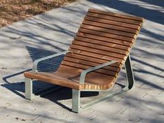 Seduta da esterni in acciaio verniciato a polvereSUMMER 2 SUN LOUNGER - PUNTO DESIGN