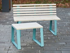 Tavolino in acciaio e legnoSUMMER   Tavolino - PUNTO DESIGN