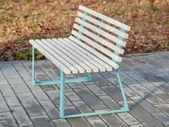 Panchina in acciaio e legno con schienaleSUMMER - PUNTO DESIGN