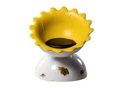 Poltrona in ecopelle con cuscino integratoSUNFLOWER | Poltroncina imbottita - 3.9 DESIGN BY GIÒSANTANTONIO