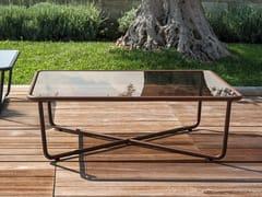 Tavolino da giardino rettangolare in alluminio SUNGLASS | Tavolino rettangolare -