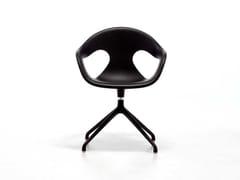 Sedia in metallo in stile moderno a 5 razze con braccioli con cuscino integrato SUNNY PLASTIC SP | Sedia girevole - Sunny