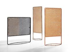 Paravento in cuoio e struttura in metallo verniciatoSUNRISE - MIDJ