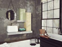 Mobile lavabo singolo sospeso in rovere con anteSUPER NATURAL SN01 - ARTEBA