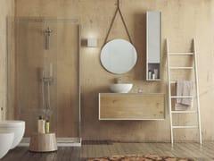 Mobile lavabo singolo sospeso in rovere con cassettiSUPER NATURAL SN03 - ARTEBA