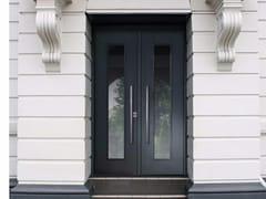 Porta d'ingresso blindata laccata con pannelli in vetro SUPERIOR - 16.5002 M16 - Professional