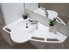 Lavabo in ceramica ad altezza regolabile con movimento elettricoSUPPORT - ROPOX