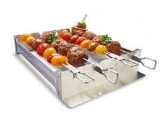 Accessorio per barbecue in acciaioSUPPORTO SPIEDINI A DOPPIA ASTA - BROIL KING ITALIA • MAGI&CO