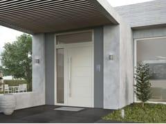 Porta d'ingresso con pannelli in vetroSUPREME SD77 - ALUMIL