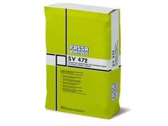 FASSA, SV 472 Massetto a base cementizia ad essicazione veloce