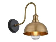 Lampada da parete per esterno in ottoneSWAN NECK DOME - INDUSTVILLE