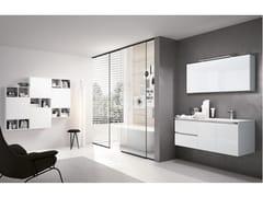 Mobile lavabo sospeso con specchioSWING 10 - BMT