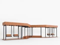 Pensilina in acciaio e legnoSWING CANOPY - PUNTO DESIGN