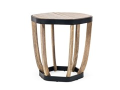 Tavolino da giardino rotondo in teak SWING | Tavolino rotondo - Swing