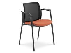 Sedia da conferenza con braccioli SWING | Sedia da conferenza con braccioli - Swing