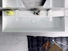 Lavabo doppio rettangolare in Tecnoril® SYN | Lavabo doppio - Syn
