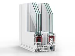 REHAU, SYNEGO Finestra a taglio termico alzante scorrevole con triplo vetro