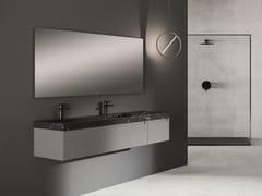 Mobile lavabo componibile con top in pietra naturale PureSYNERGY | Mobile lavabo componibile - FIORA