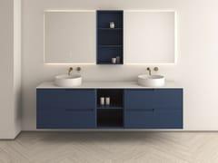 Mobile lavabo con top in pietra naturale Pure con cassettiSYNERGY | Mobile lavabo con cassetti - FIORA