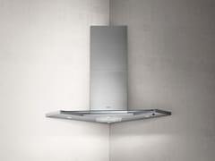 Cappa ad angolo in acciaio inox e vetro con illuminazione integrataSYNTHESIS - ELICA