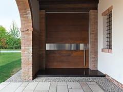 Porta d'ingresso a bilico blindata in acciaio Corten™SYNUA | Porta d'ingresso in acciaio Corten™ - OIKOS VENEZIA