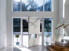 Porta blindata con rivestimento in Laminam bianco statuarioSYNUA   Porta ingresso in Laminam bianco - OIKOS VENEZIA