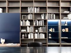 Libreria a parete in noceSYSTEM 2018 - PORRO
