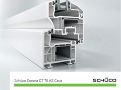 Schüco PWS Italia, Schüco Corona CT 70 AS Cava Finestra in PVC