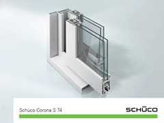 Schüco PWS Italia, Schüco Corona S 74 Sistema in PVC per porte per terrazzi e verande