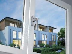 HOPPE, SecuSignal® Maniglia per finestre DK in alluminio con serratura