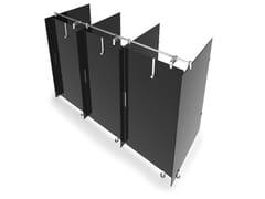 Sistema modulare per box doccia in vetro, HPL e metalloSTUDIO S - GRUPPO P&G