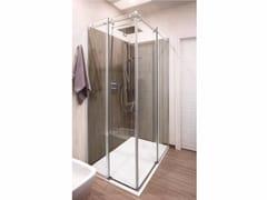 CARMENTA, Box doccia con porta scorrevole Box doccia angolare in cristallo con porta scorrevole
