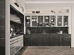 Cucina laccata/acciao-colonne e pensili con telaio nichelatoSieMatic CLASSIC - SE 2002 BAL - SIEMATIC MÖBELWERKE